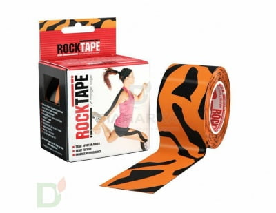 Пластырь (кинезиотейп) RockTape Design 5см х 5м, тигр